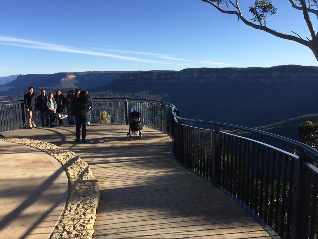 The new lookout with wheelchair access near the end of the walk.