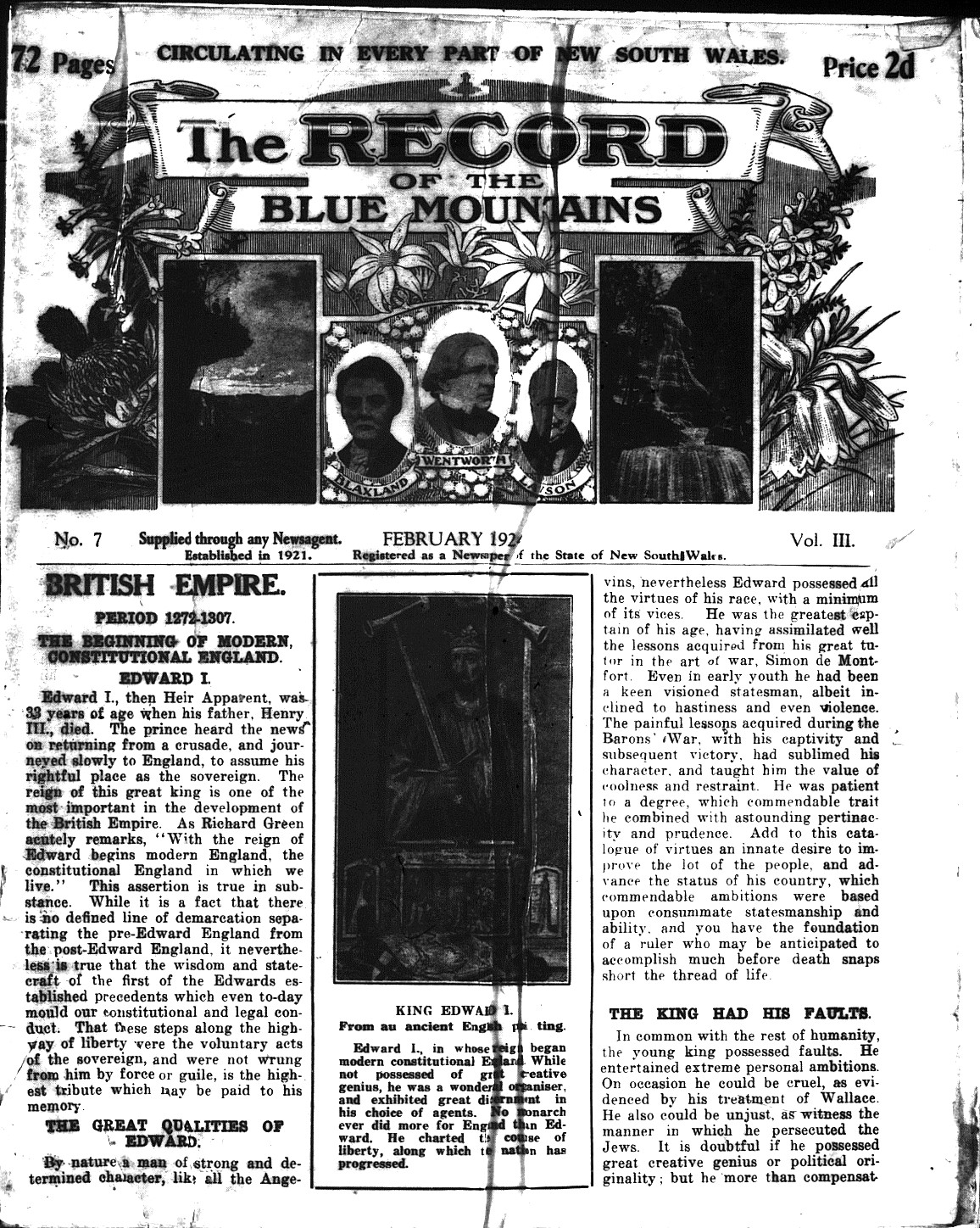 The Record of the Blue Mountains