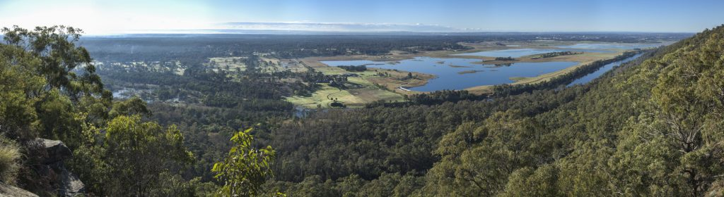 Ask Roz Panorama of Nepean River and Penrith Lakes from Hawkesbury Lookout