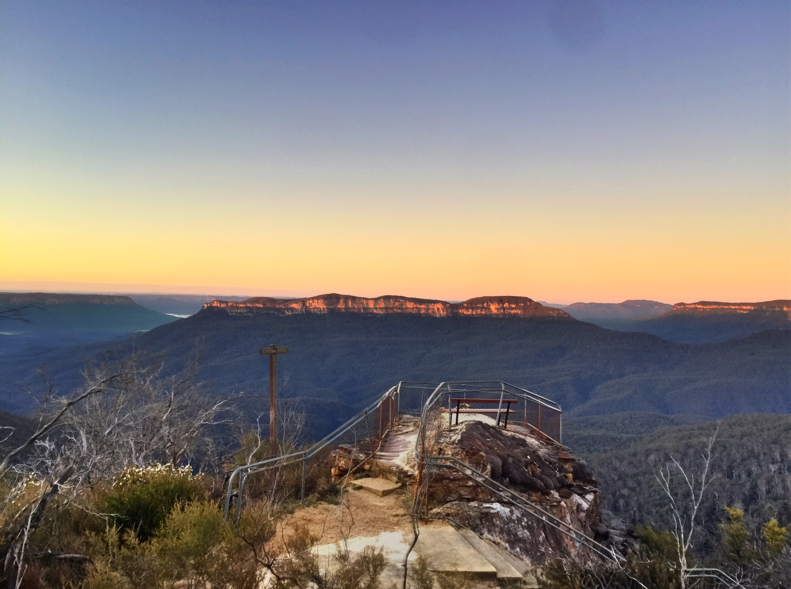 Elysian Rock Ask Roz Blue Mountains best sunrise spots in Leura