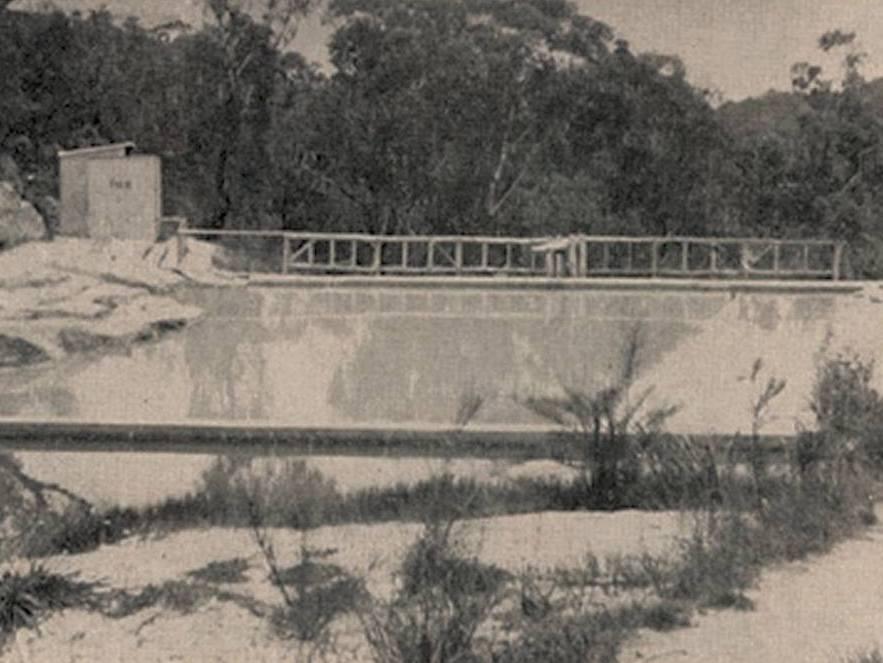 Hazelbrook Baths from a 1930's brochure