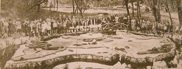 Map of Australia Wilson Park