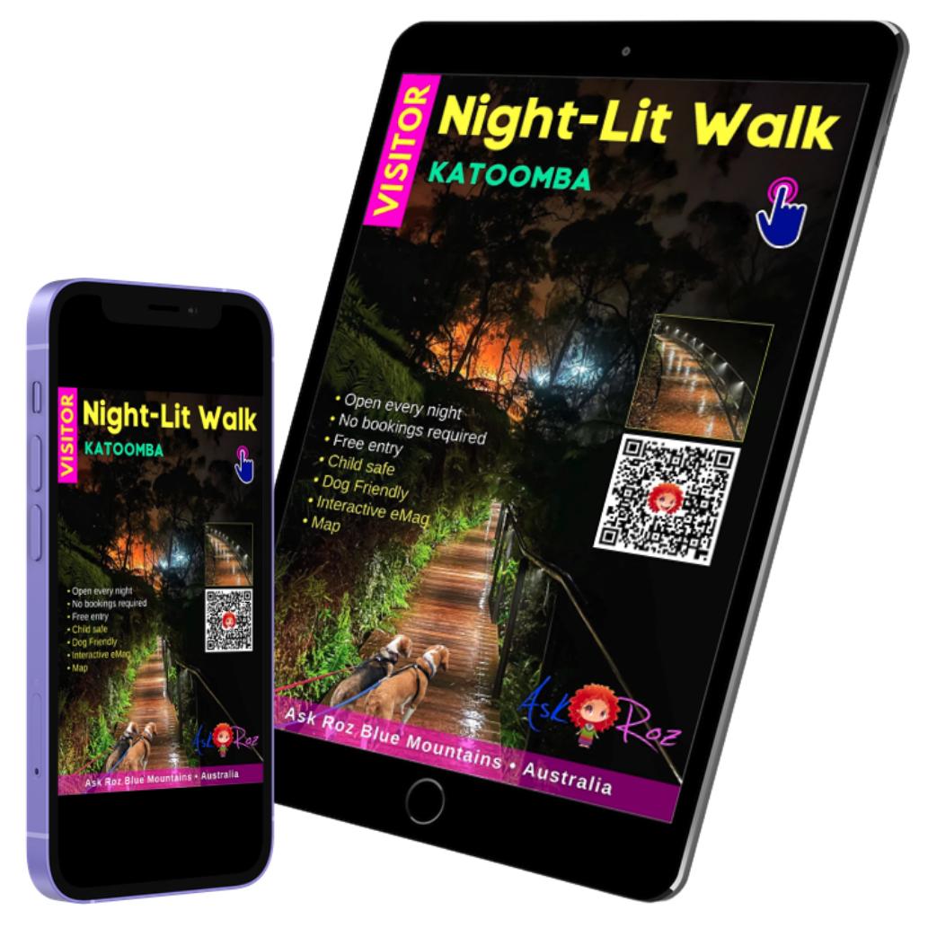 Katoomba Falls Night Lit Walk